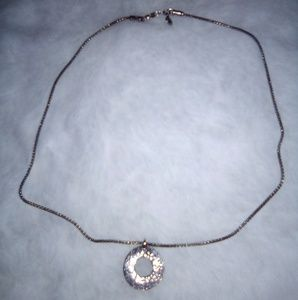 Silpada Sterling Silver Round Necklace (Retired)